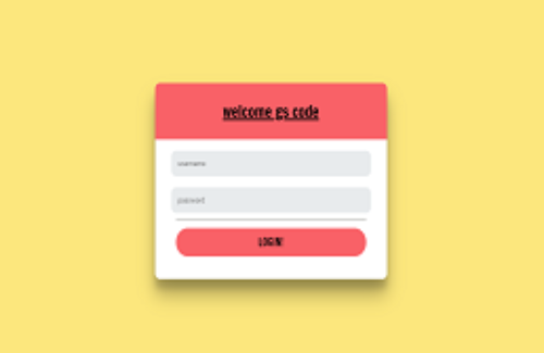 Login and registration form in html and CSS