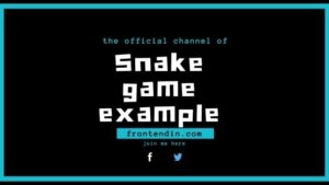 10 Javascript Snake Game code