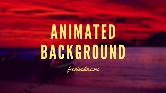 Animate background