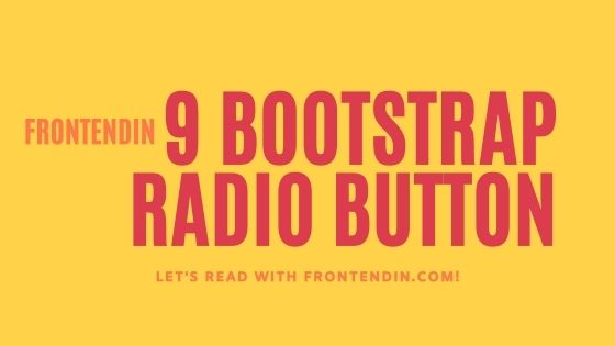 9 bootstrap radio button