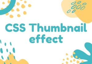 Read more about the article 20 CSS Thumbnail effect