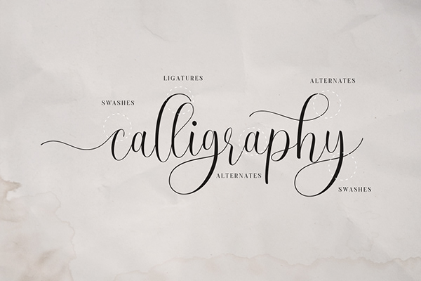 Free Calligraphy Font | Ruth Clair Lovely Script