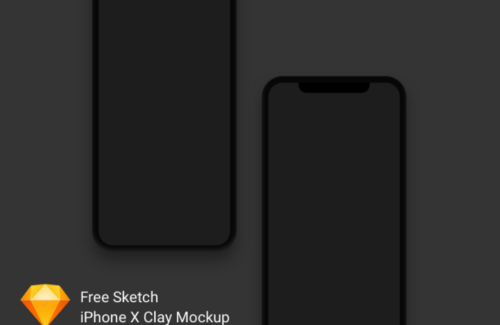iPhone X Clay Mockup Freebie