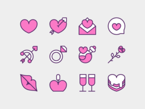 Valentine Icons Freebie