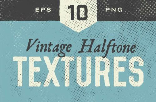 Halftone Textures – 10 Pack