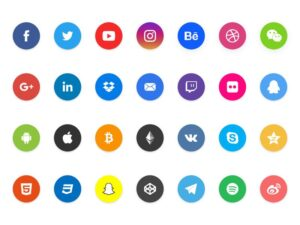 28 Social Share Element Icons