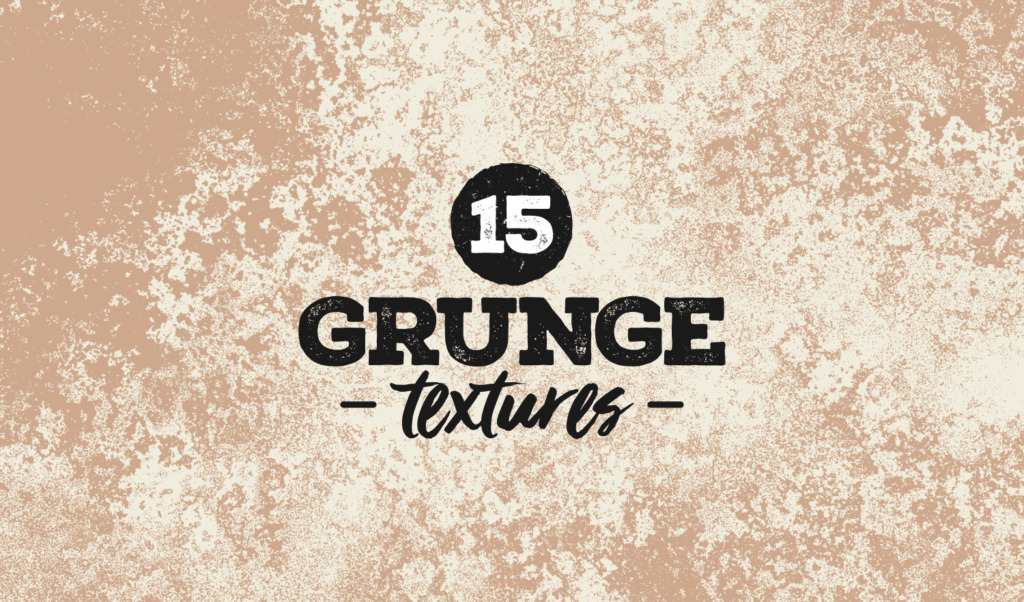 15 different grunge style textures