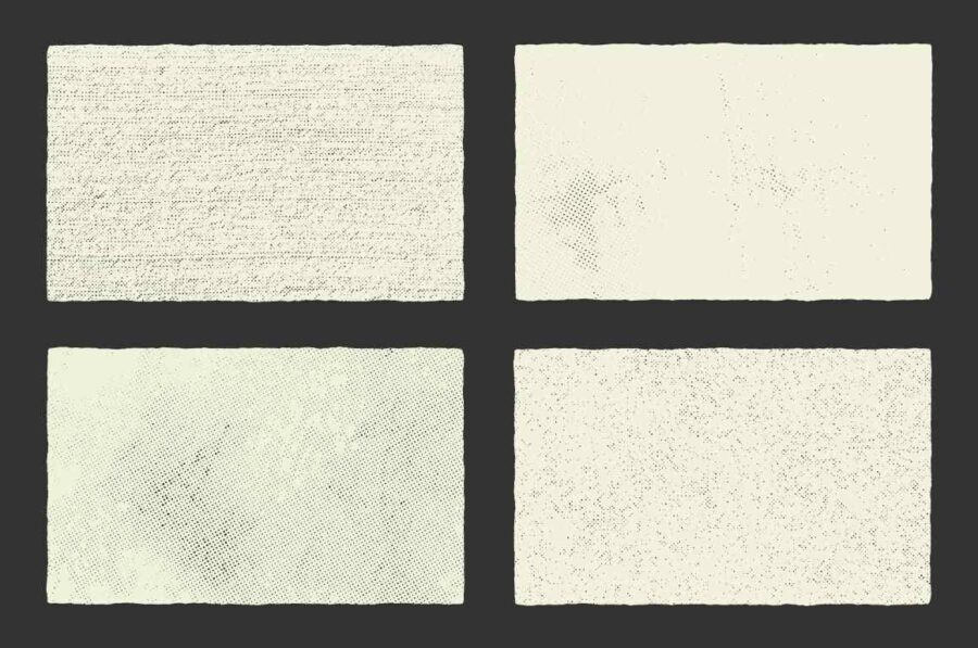 Halftone Textures - 10 Pack By GhostlyPixels in Graphics