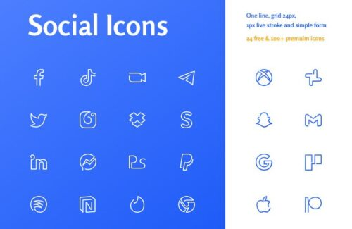 Free Social Oneline Icons