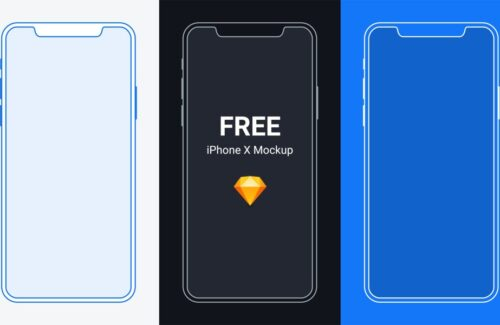 FREE iPhone X Mockup for Sketch