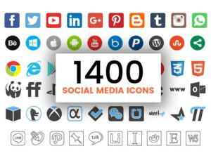 1400 Social Media Icons for FREE