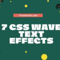 CSS Wave text effects
