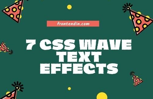 7 CSS Wave text effects