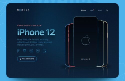 mocups – Freebies iPhone 12 Mockups