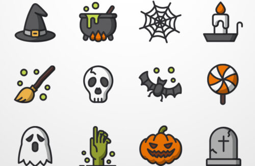 12 pixel perfect Halloween icons