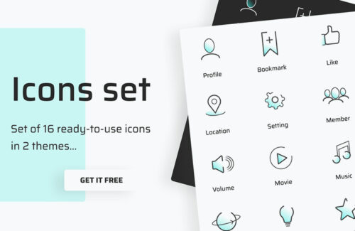 Line Icon Set – PSD Freebie