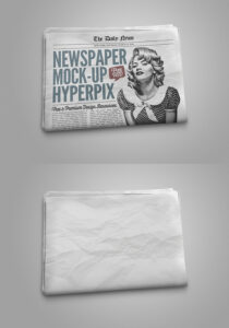 FREE PHOTOREALISTIC NEWSPAPER MOCKUP