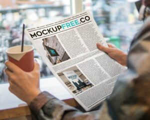 Newspaper Free PSD Mockup