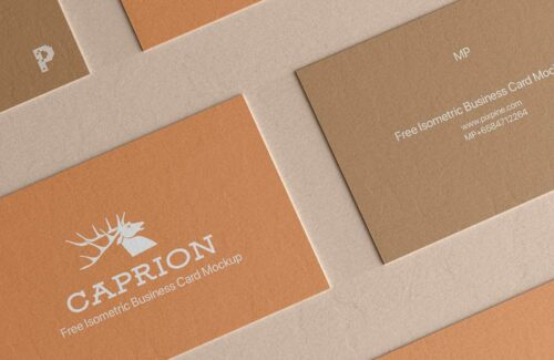 Free Vertical Business Card Mockup