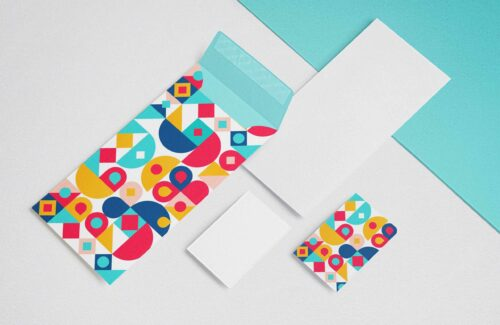 Envelope and Business Card Mockups