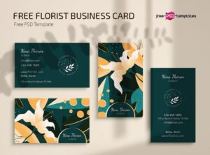 FREE FLORIST BUSINESS CARD TEMPLATES IN PSD