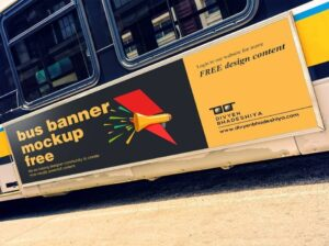 Read more about the article Bus Banner Mockup PSD Free Download
