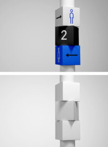 Read more about the article Wayfinding Sign PSD Mockup